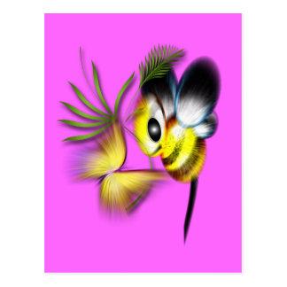 Flutter and Buzz Postcard