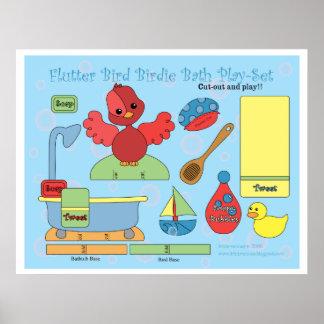 Flutter Bird Birdie Bath Play-Set Poster