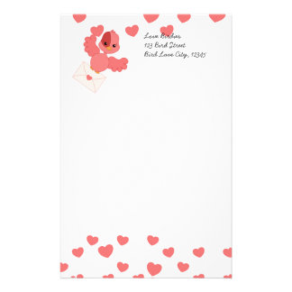 Flutter Bird Love Note Stationery