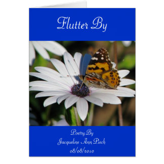 Flutter By Poetry Greeting Card