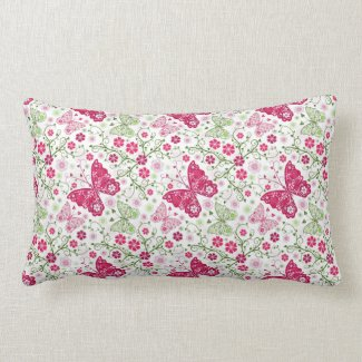 Flutter By Trendy Butterfly Pillow