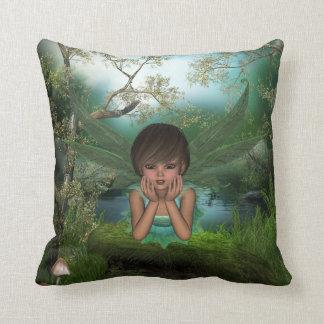 Flutter Fairy Child American MoJo Pillow