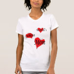 flutter.hearts.mom t-shirts