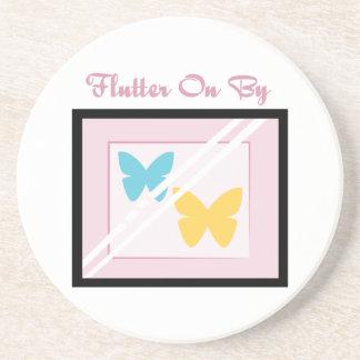 Flutter On By Beverage Coaster