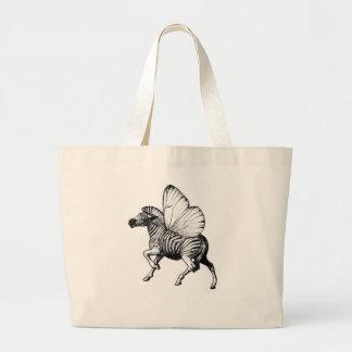 Flutter Zebra Canvas Bags