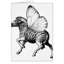 zebra,wings,strypes,stripes,butterfly, Card with custom graphic design