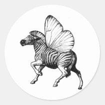 zebra,wings,strypes,stripes,butterfly, Adesivo com design gráfico personalizado