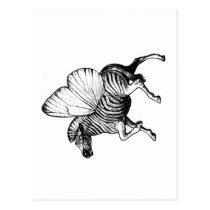 zebra,wings,strypes,stripes,butterfly, Cartão postal com design gráfico personalizado
