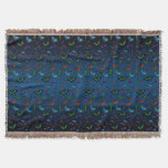 Flutterbies Throw Blanket (Dark Blue Mix)