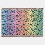 Flutterbies Throw Blanket (Rainbow)