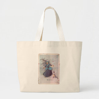 Flutterbudget and a Cat Vintage Oz Large Tote Bag
