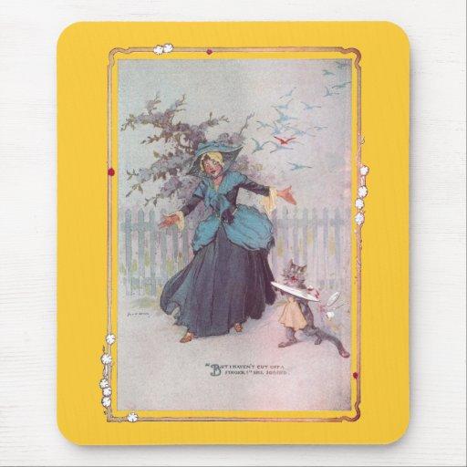 Flutterbudget and a Cat Vintage Oz Mouse Pad