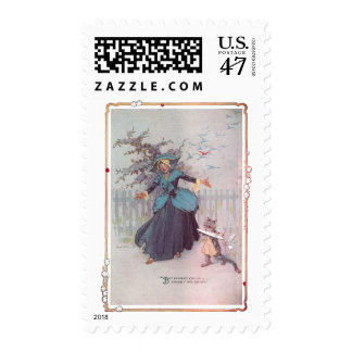 Flutterbudget and a Cat Vintage Oz Postage