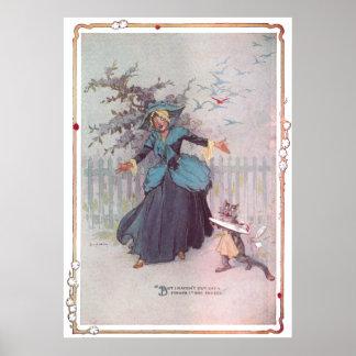 Flutterbudget and a Cat Vintage Oz Poster