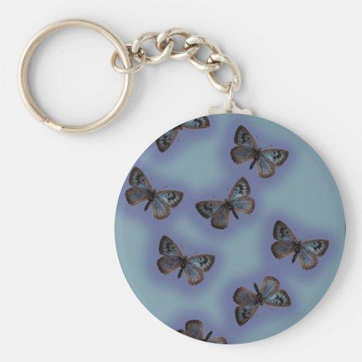 Flutterby Basic Round Button Keychain