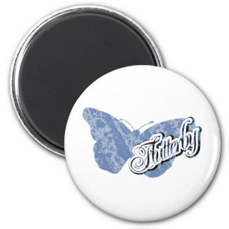 Flutterby Butterfly 2 Inch Round Magnet