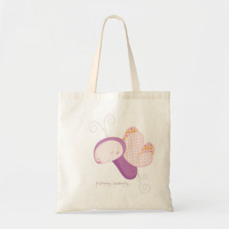 """""""Flutterby Butterfly """" Animal Babies Tote Bag"""