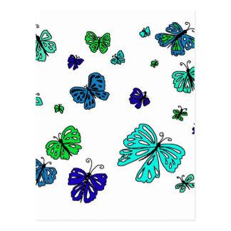 Flutterby Butterfly Postcard