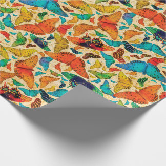 Flutterby Everyday Butterflies on Beige Wrapping Paper