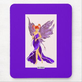 Flutterby Fae (Damson) Mousemat Mouse Pad