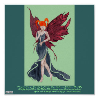 Flutterby Fae (Faery fall twin1) Poster