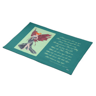 Flutterby Fae Fall-twin (1) Cloth Placemat