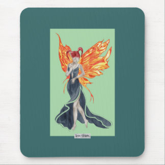 Flutterby Fae Fall-twin (2) Mousemat Mouse Pad