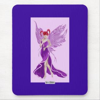 Flutterby Fae (Grape) Mousemat Mouse Pad