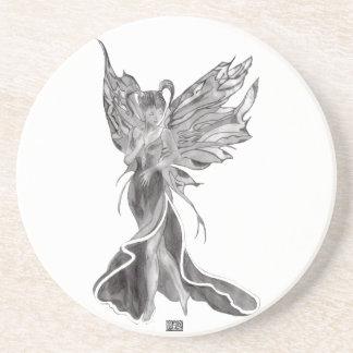 Flutterby Fae (Raw Sketch) Coaster