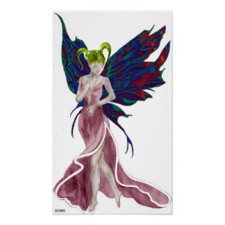 Flutterby Fae (Rose) Canvas Print