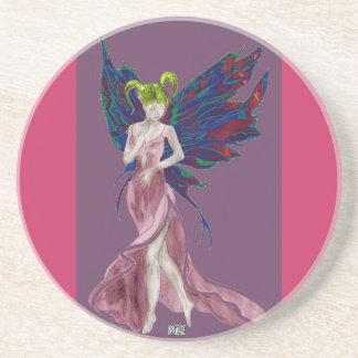 Flutterby Fae (Rose) Coaster