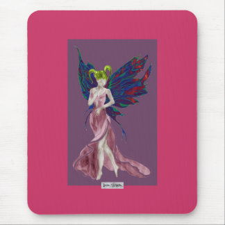 Flutterby Fae (Rose) Mousemat Mouse Pad