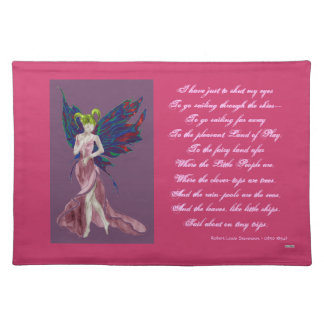 Flutterby Fae (Rose) Placemat