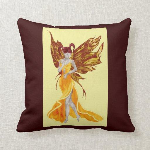 Flutterby Fae Sunbeam Throw Pillow