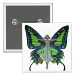 Flutterby Fairy 2 Inch Square Button