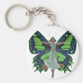 Flutterby Fairy Basic Round Button Keychain
