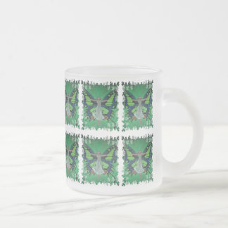 Flutterby Fairy Frosted Glass Coffee Mug