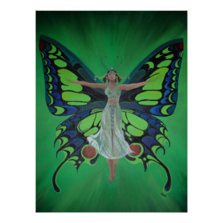 Flutterby Fairy Poster