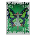 Flutterby Fairy with Leaves Greeting Cards