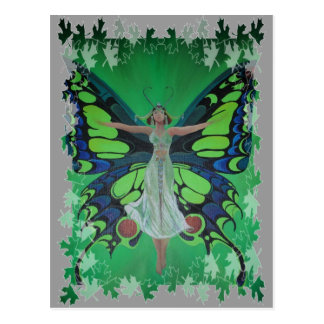 Flutterby Fairy with Leaves Postcard