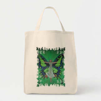 Flutterby Fairy with Leaves Tote Bag