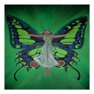 Flutterby Fairy Perfect Poster