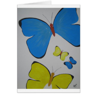 Flutterby Greetings Card