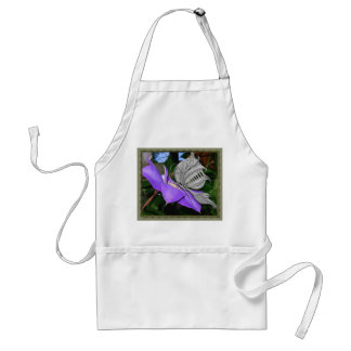 Flutterby On Clematis Adult Apron
