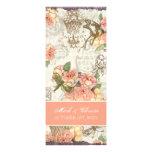 Flutterbyes 'n Roses Elegant Menu Card Invites