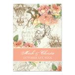 Flutterbyes 'n Roses Elegant Wedding Card