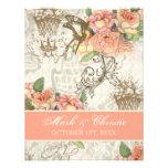 Flutterbyes 'n Roses Elegant Wedding Invitation