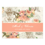 Flutterbyes 'n Roses Elegant Wedding RSVP Card Personalized Announcement