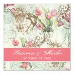 Flutterbyes 'n Tulips Elegant Wedding Invitations