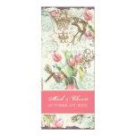 Flutterbyes 'n Tulips Elegant Wedding Program Card Personalized Announcement